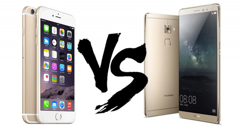 huawei mate vs vs iphone 6 S