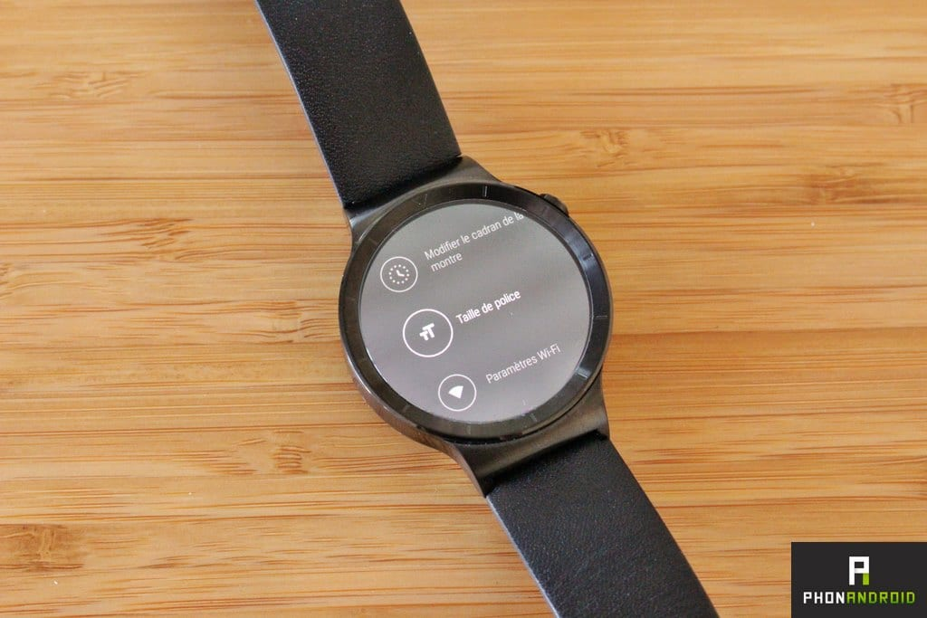 huawei watch reglages android wear