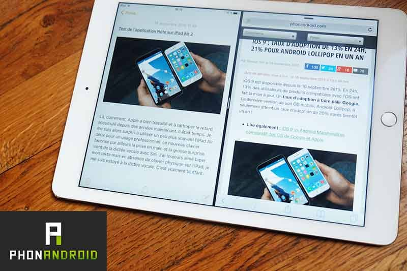 ios 9 temoignage ipad air 2