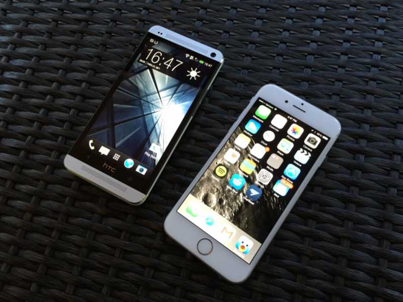 iphone 6 vs htc one m7