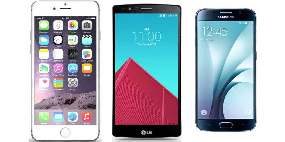iPhone 6S Plus vs. Galaxy S6 VS. LG G4