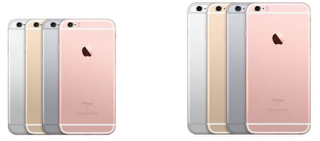 iPhone 6S coloris
