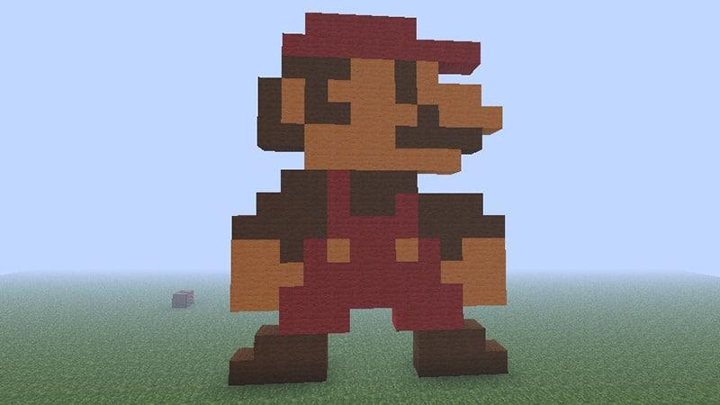 mario look pixels