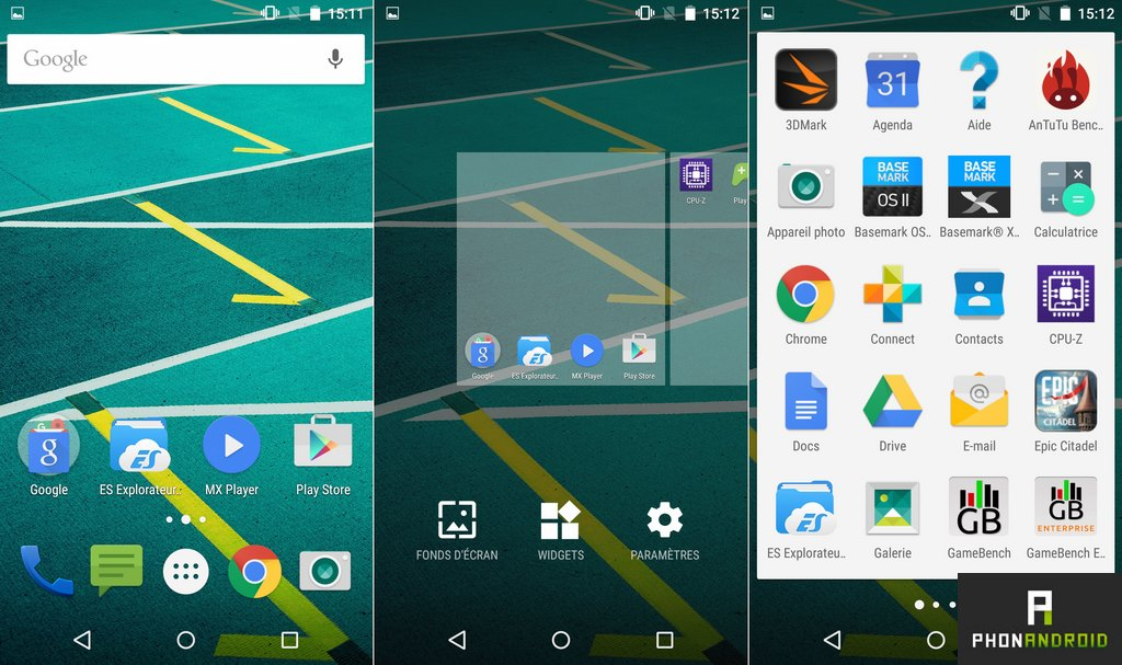 moto x play interface android lollipop