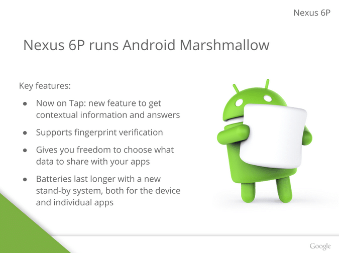 Nexus 6P Android Marshmallow