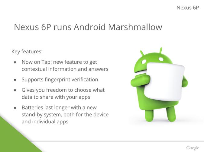 Nexus 6P Android Marshmallow