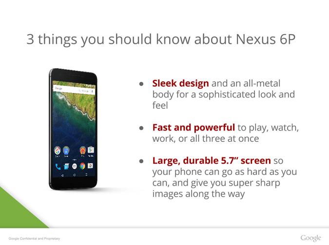 Nexus 6P fonctionnalites
