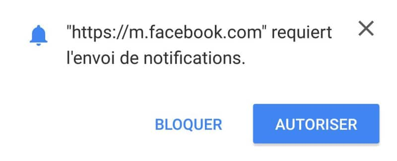 facebook chrome notifications