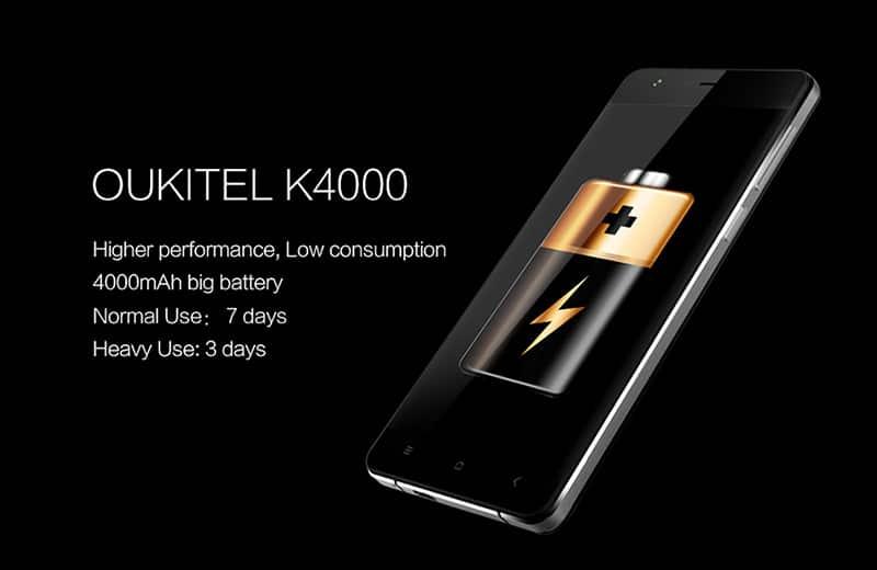oukitel 4000 smartphone ultra solide autonomie 7 jours