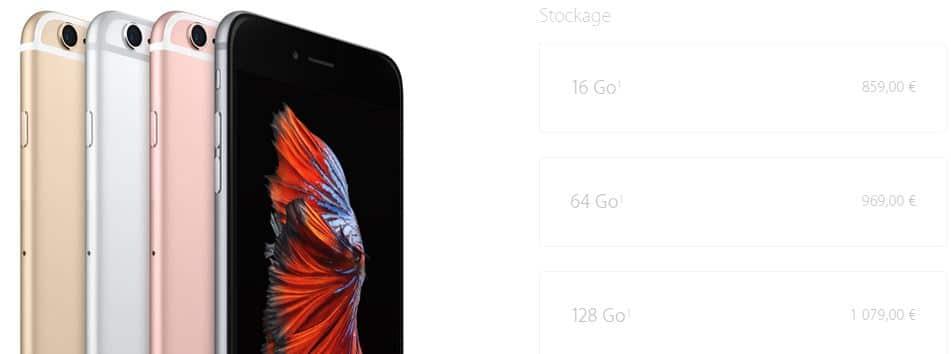 prix iPhone 6S Plus