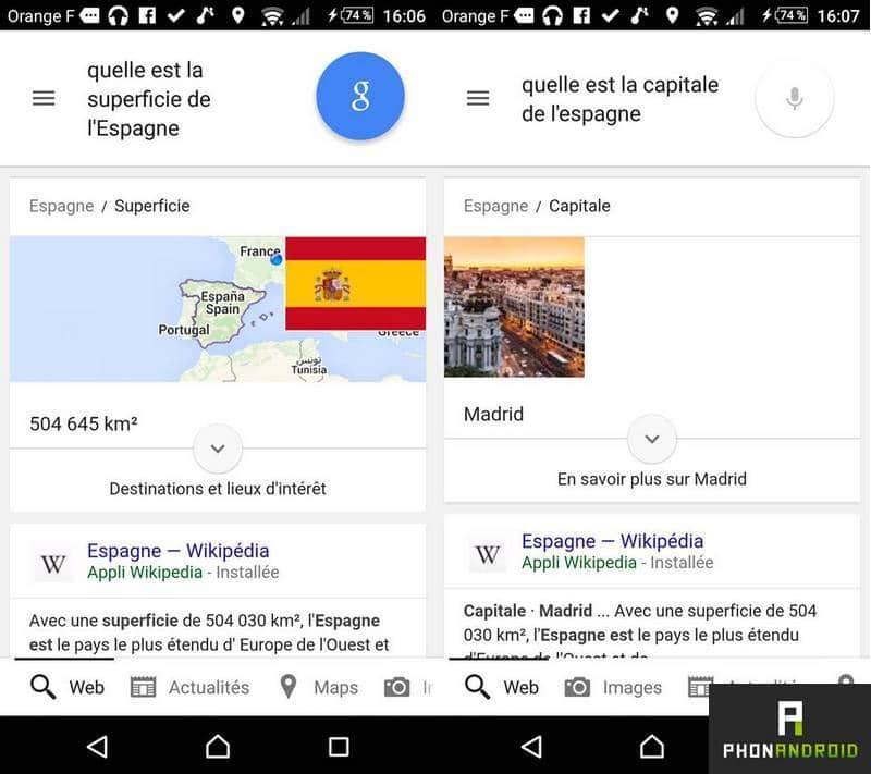 Google Now recherche