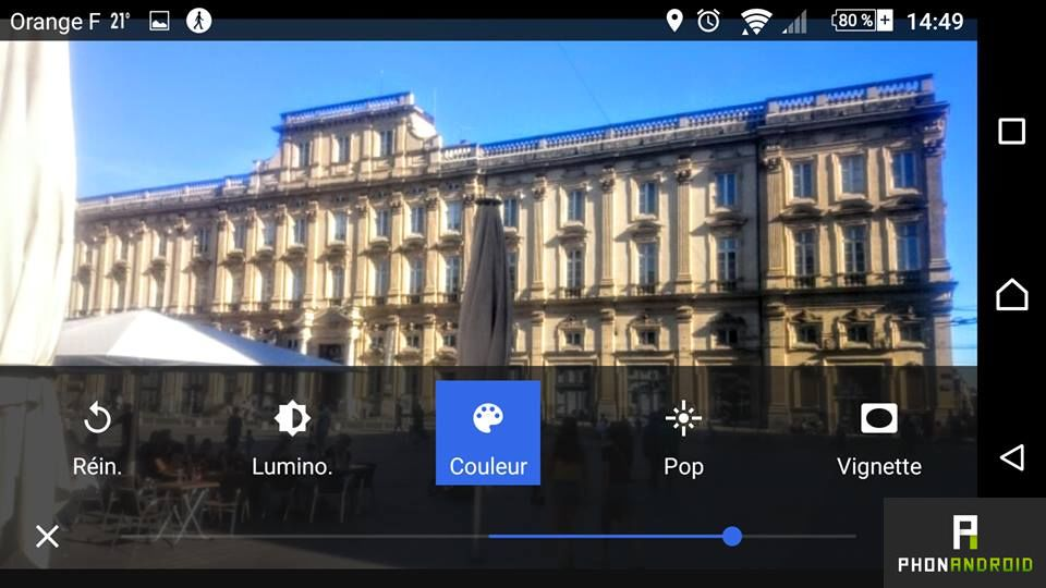 retoucher photo smartphone Android