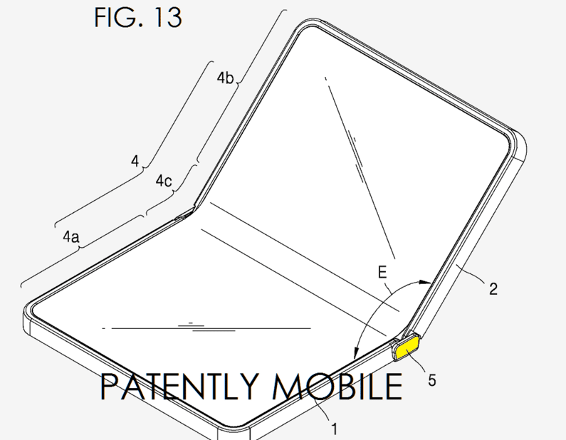 Samsuung brevet terminal pliable 1