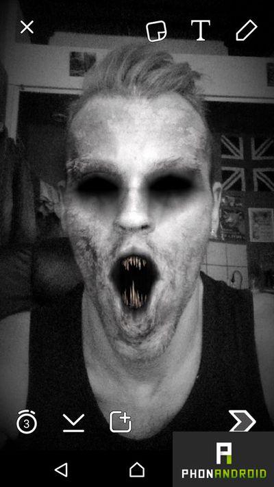 selfie Snapchat