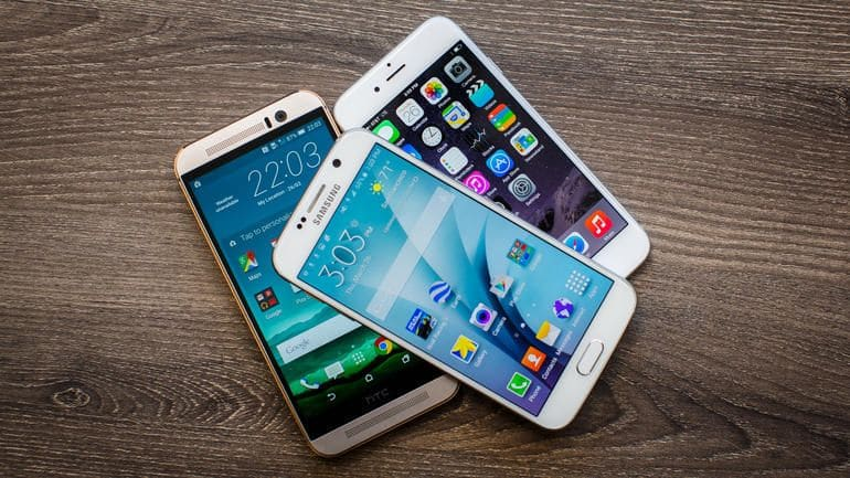 smartphones Android iPhone