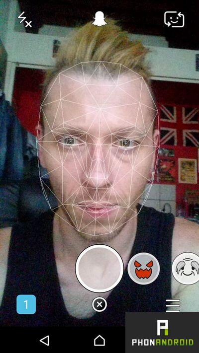 Snapchat effet selfie