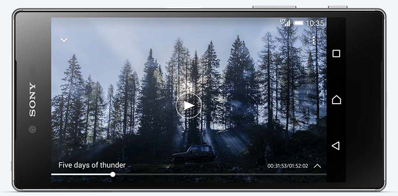 sony xperia z5 premium video 4k