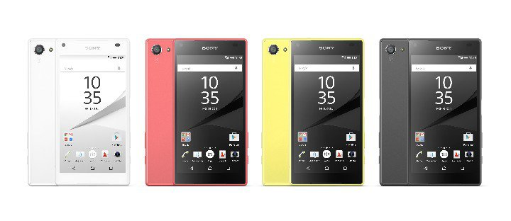 Sony Xperia Z5 Compact couleurs