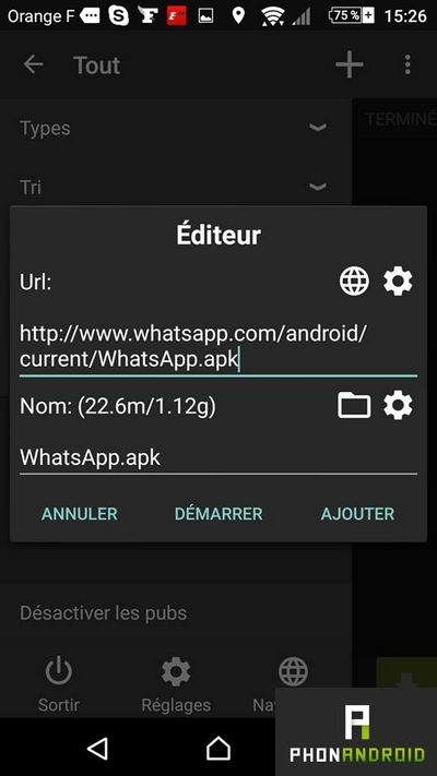 ttelecharger fichier android