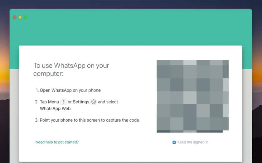 whatsapp sur PC, Mac et navigateur