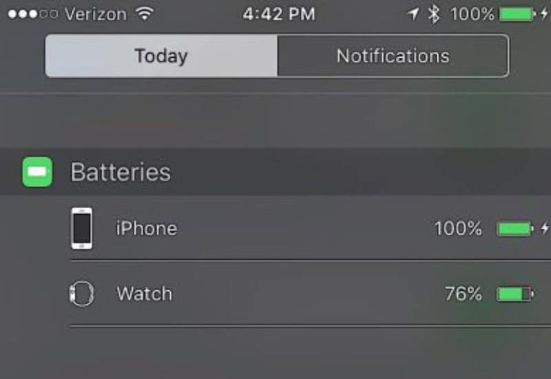 widget batterie ios 9