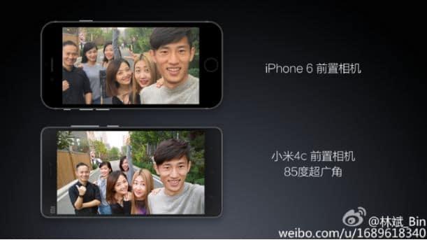 Xiaomi Mi4c iPhone 6
