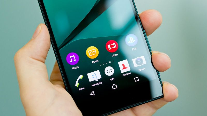 Sony Xperia Z5 interface