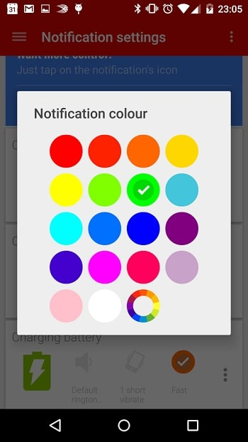 LED notifications couleurs