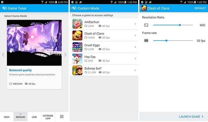 Samsung Game Tuner