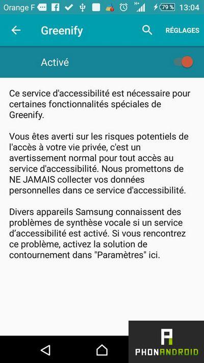 activer Greenify