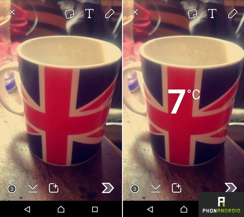 ajouter filtres Snapchat
