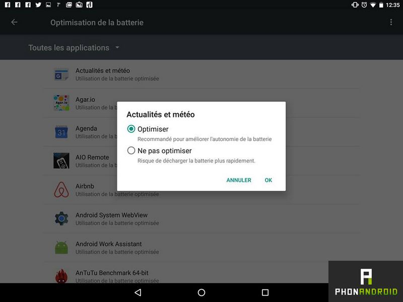 android marshmallow optimiser application