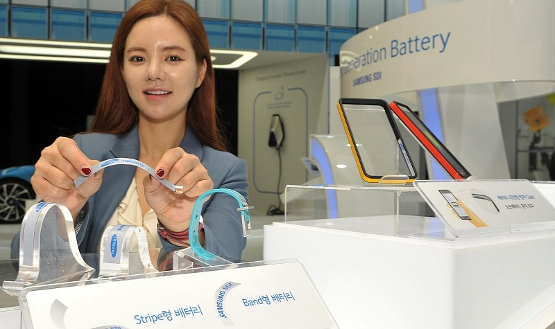 Samsung batterie flexible