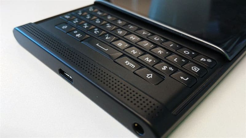 blackberry priv prise en main clavier