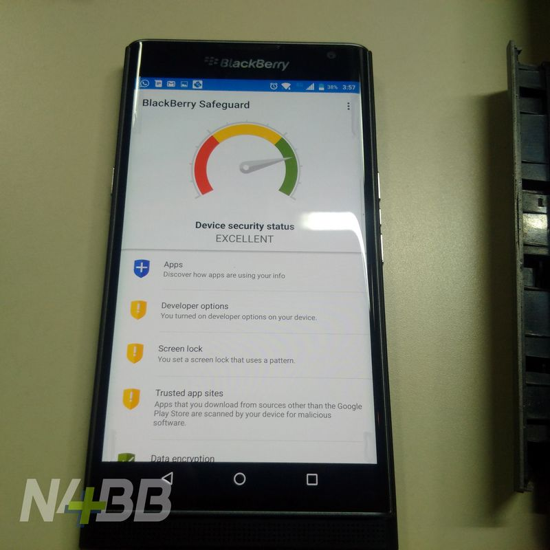 BlackBerry Priv securite
