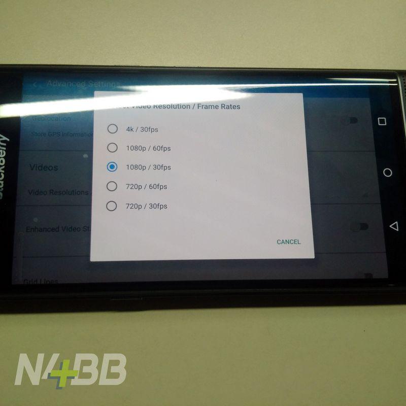 blackberry priv video 4K