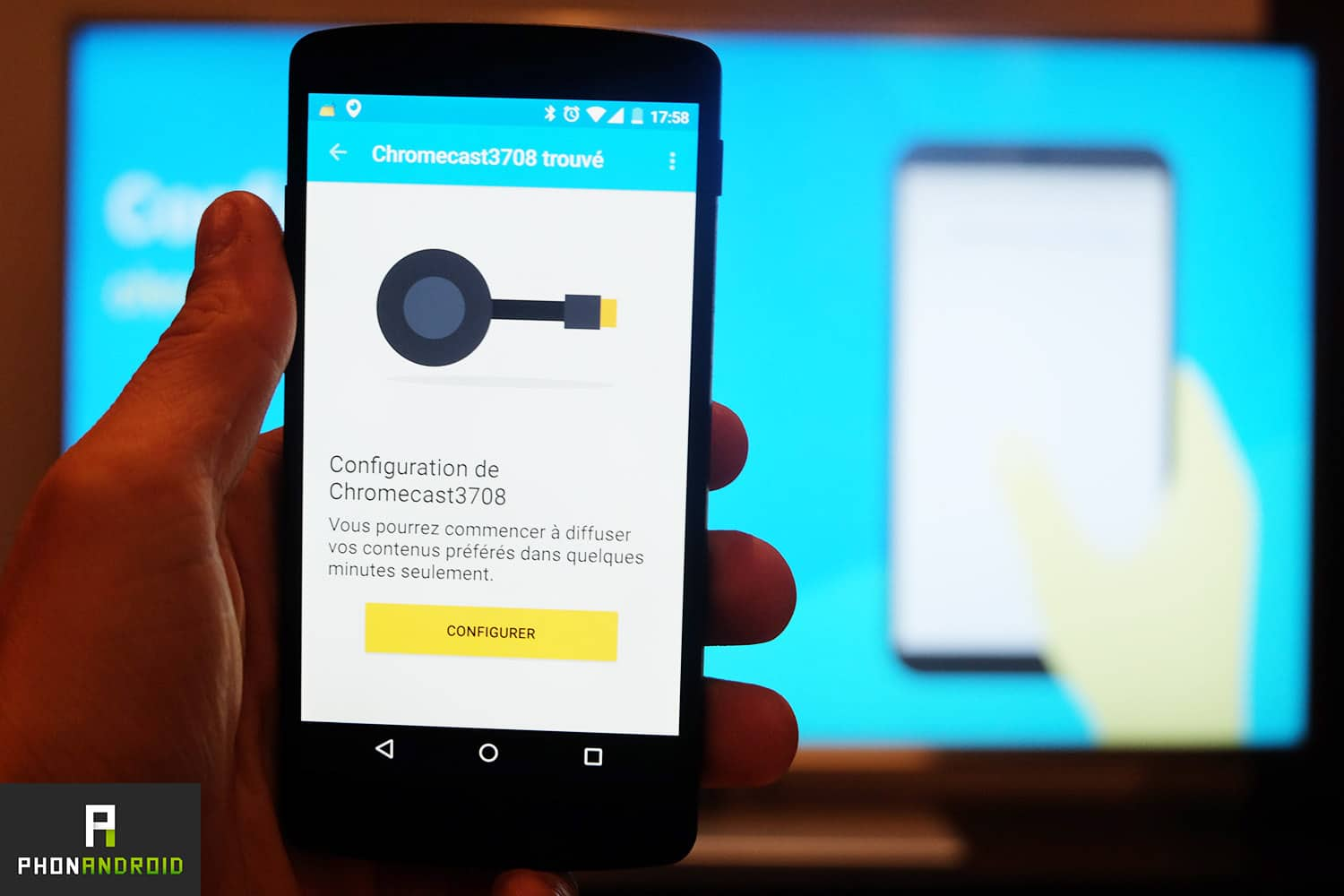 chromecast 2 appairage wifi