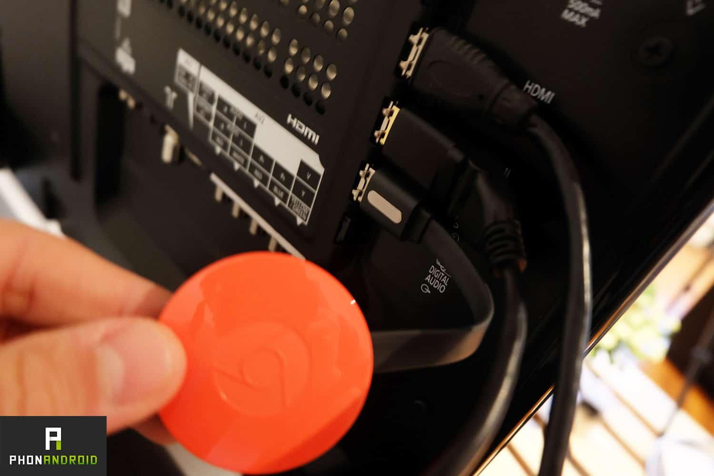 chromecast 2 connexion tv