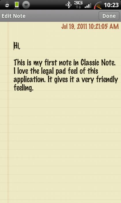 classic notes android