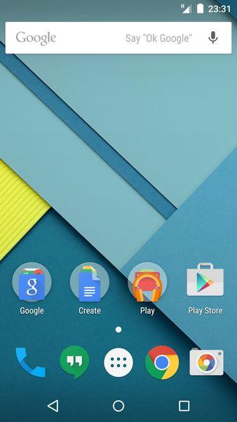 android ecran accueil