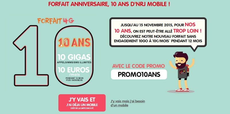 forfait nrj mobile 10 ans