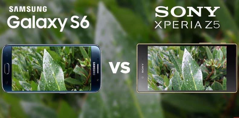 Galaxy S6 Xperia Z5