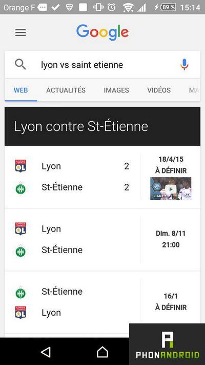 Google sport