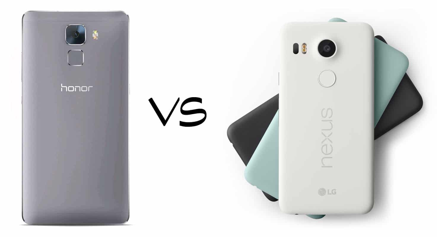 honor 7 vs Nexus 5x