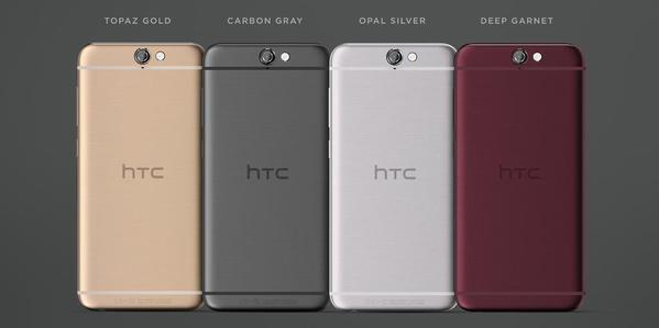 HTC One A9 coloris