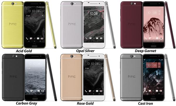 HTC One A9 photos coloris