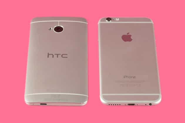 HTC One M7 iPhone 6