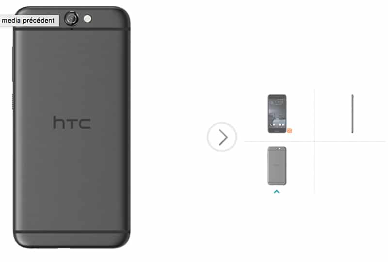 htc one a9 design back