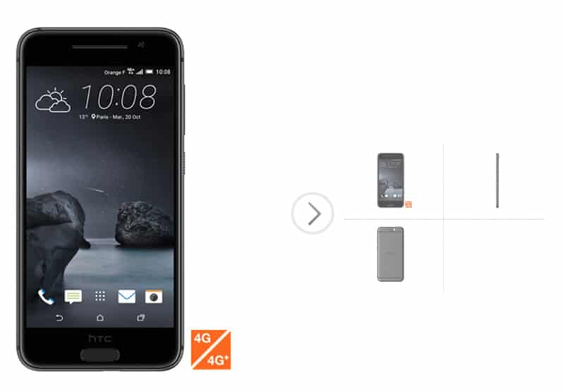 htc one a9 design face