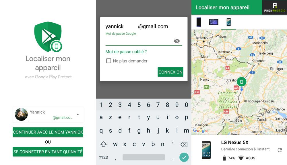 application localiser pour android